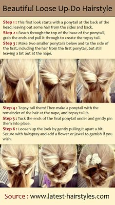 Beautiful Loose Up-Do Hairstyle | PinTutorials