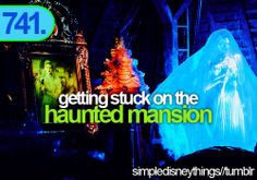 Getting stuck on the haunted mansion
