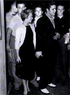September 13, 1957 Elvis and Anita Wood in Memphis -