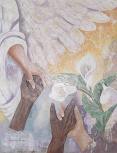 A Hand To Hold - 16X20 Collage by Jacqueline Brown (Hospice Donation)