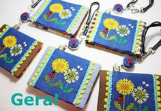 Embroidery Stitches, Stitching, Coin Purse, Cross Stitch, Purses, Bags, Gera, Felt, Needlepoint