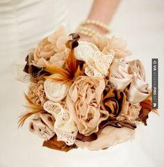 #rockmyautumnwedding @rockmywedding  Awesome - Fabric Bridal Bouquet