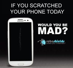 If you scratched your phone today, would you be mad?  Hopefully, now you don't have to fear scratching your phones screen again as RoboShields Military Screen Protectors protects your smart phone from scratches and cracks. Roboshields Screen protectors are durable, easy to install, and don't scratch easily.  Dont risk another day of scratching your screen again. Visit: http://roboshields.com/