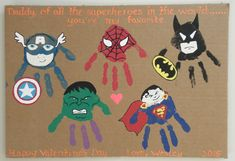Next Post Previous Post Father's Day Handprinting Superhero Ideas Vatertag Handabdruck Superhelden-Ideen Next Post Previous Post Diy Father's Day Crafts, Father's Day Diy, Baby Crafts, Preschool Crafts, Diy Mothers Day Gifts, Fathers Day Crafts, Father's Day Gifts, Diy Gifts, Diy For Kids