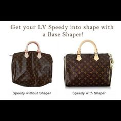 Base shaper for speedy 25 Material: plastic. Color: white. Functions: this thin plastic board is flexible but also strong to keep your bags in shape and not saggy-looking with up to 5lbs inside. Fits authentic bags only. BAG IS NOT INCLUDED. Louis Vuitton Accessories
