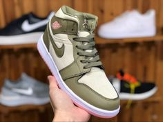 a685b37ade0 2019 New Air Jordan 1 Mid GG Bleached Coral Trooper Bleached Coral 555112 -225-