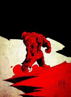 Red Hulk... by PatBoutin on @DeviantArt