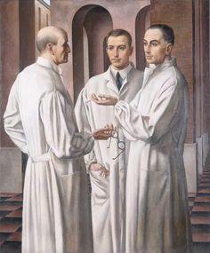 Ubaldo Oppi, I pescatori di Santo Spirito, 1924. Roma, Galleria Nazionale d'Arte Moderna