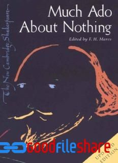 Free Download Much Ado About Nothing Pdf By William Shakespeare Storie First Folio Famou English Poets Paraphrase