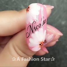 Do-it-Yourself nail art [ Nail Art Designs Videos, Nail Design Video, Nail Art Videos, Acrylic Nail Designs, Nail Art Hacks, Nail Art Diy, Diy Nails, Floral Nail Art, Instagram Nails