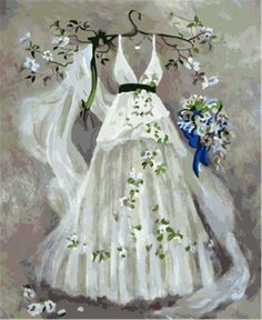 Paint by Numbers with Frame or Not, New Release Diy Oil Painting by Numbers Kits - Dream Wedding Dress 16*20 inches - Digital Oil Painting Canvas Kits Junior for Adults Children Kids with 3X Magnifier - Wall Art Artwork Landscape Paintings for Home Living Room Office Picture Decor Decorations Gifts Diy Paint by Numbers Diy Canvas Kit for Advanced Seniors: Amazon.co.uk: Toys & Games