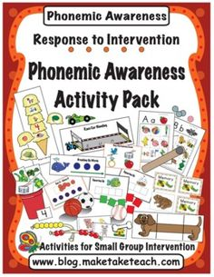 15 hands on activities for teaching isolating sounds, segmenting, blending and phoneme manipulation.  Aligns with the DIBELS Next.  Ideal for small group intervention.