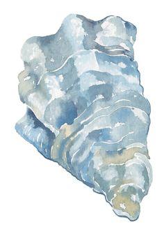 oyster watercolor design for coastal wedding invitation