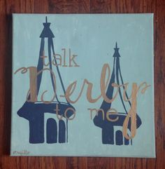 Talk Derby To Me- Kentucky Derby Themed Painting by emilytrujilloart on Etsy https://www.etsy.com/listing/229354165/talk-derby-to-me-kentucky-derby-themed