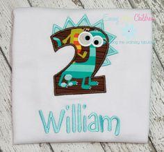 Super Cute 2 with Dinosaur  www.emmylouchildrens.etsy.com