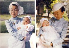 Princess Nobuko with Princess Akiko (1981) and Princess Yoko (1983)