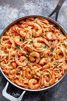 15-Minute Creamy Tomato Garlic Butter Shrimp - Cafe Delites Shrimp Recipes For Dinner, Prawn Recipes, Quick Dinner Recipes, Seafood Recipes, Asian Recipes, Breakfast Recipes, Cooking Recipes, Ethnic Recipes, Breakfast Ideas