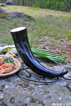 Drinking Horn Set - Lo, there do I see my father. Lo, there do I see my mother, and my sisters, and my brothers. Lo, there do I see the line of my people back to the beginning. Lo, they do call to me. They bid me take my place among them in the halls of Valhalla where the brave may live forever. - $57