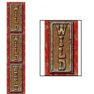 Jointed Wild Wild West Pull-Down - PartyCheap Wholesale Party Supplies, Discount Party Supplies, Western Theme, Western Cowboy, Western Party Supplies, Cheap Candles, Western Parties, Printed Balloons, Cowboy Party
