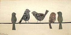 Birds on a Wire | hootfurnishings