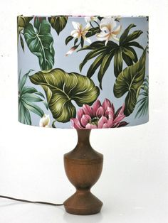 """Tropical lotus"" lampshade. love."