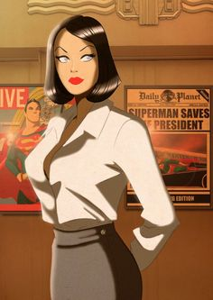 Lois Lane fromWickedly Cool 1940's Retro Superhero Pop Art — GeekTyrant, by Des…
