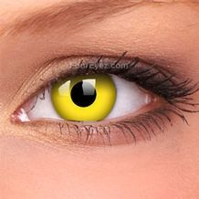 Yellow Crazy Contact Lenses (Pair)