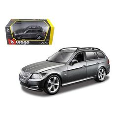 BMW 3 Series Wagon Touring Gray 1/24 Diecast Car Model by Bburago