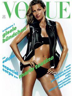 Gisele Bündchen para Vogue Br edição de junho