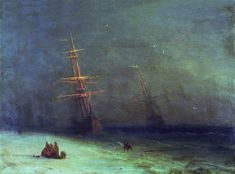 Storm on the North Sea in 1875 47h63. Ivan Konstantinovich Aivazovsky