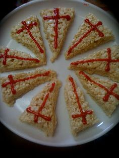 These great Red Cross Crispies, in honor of St. George whose feast day is celebrated on April were submitted by Tiffany at Family at t. Catholic Feast Days, Saint Feast Days, Catholic Saints, St George Flag, Saint George, St Georges Day, Catholic Crafts, All Saints Day, Red Cross