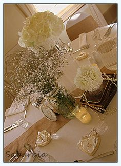 Vintage Wedding Table Decorations.n