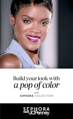 Build your look with a pop of color from SEPHORA COLLECTION:   Colorblocking is a hot trend in style…and in beauty. Get the look with a deep lip and neutral eye using SEPHORA COLLECTION Rouge Cream Lipstick and SEPHORA COLLECTION Colorful Eyeshadow. The combination of eye-catching lipstick and subtle eyeshadow will compliment the rest of your look. The finishing product is effortlessly modern and chic—just like you.  See the full SEPHORA COLLECTION tutorial: http://jcp.is/2d4rP6U