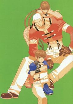 King of Fighters - Team Orochi: Shermie, Yashiro, Chris Video Game Art, Video Games, Snk Games, Snk King Of Fighters, Super Street Fighter, Fighting Games, Mobile Legends, Game Character, Anime