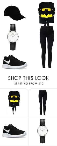 """""""Untitled #22"""" by natalijafaye ❤ liked on Polyvore featuring WithChic, J Brand, NIKE, Daniel Wellington and STONE ISLAND"""