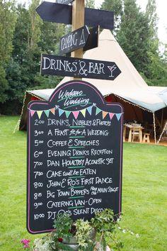 Sign Post Black Chalk Board Country Fete Garden Festival Wedding http://sharoncooper.co.uk/