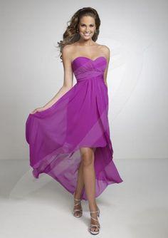 High-low+Sweetheart+Neckline+Chiffon+Short+Bridesmaid+Dresses+by+Pretty+Maids+22531