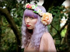 The Trendy Sparrow - Etsy Wedding: Flower Crown (photo credit: rougepony)