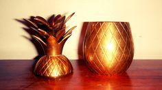 Brass Pineapple Trinket Dish / Candle Holder by KittyHawVintage, $36.00
