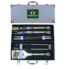 Oregon Ducks NCAA 8pc BBQ Tools Set
