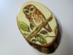 Retro Owl Wood Plaque ~ Actually just listed @ Yardsellr right now but love how the photos came out ♥