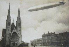 Vzducholoď LZ 127 Graf Zeppelin nad Přívozem v roce 1929