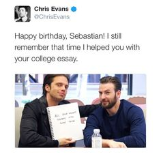 ⠀⠀⠀ Happy Birthday Seb!igchrisevans