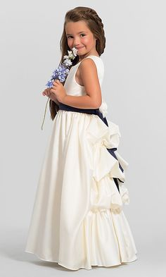 52460da3a87 Bustle-Back Bari Jay Flower Girl Dress F5216