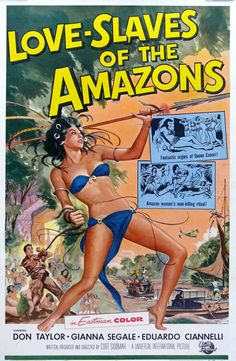 Love Slaves of the Amazons vintage movie poster - 1957