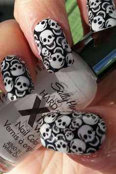 Halloween Skull Nail Decals!