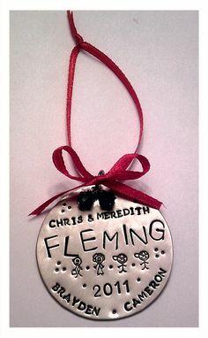 Custom Metal Christmas Ornaments