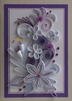 I don't do quilling, but this is a lovely card!  *QUILOLING ~ neli: Quilling cards