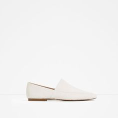 Image 1 of FLAT LEATHER SHOES from Zara
