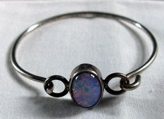 BRACELET   Mexico  925  OPAL / OPALESCENT  by MOONCHILD111 on Etsy, $22.95